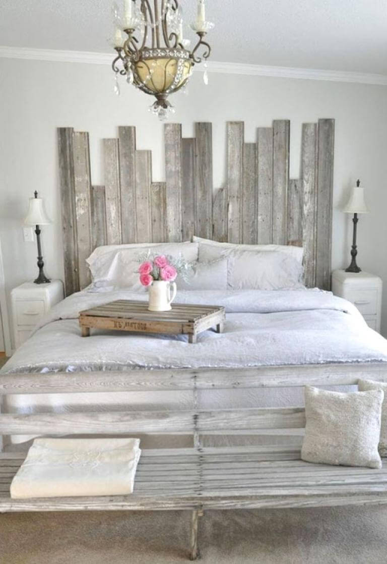 Creative farmhouse bedroom