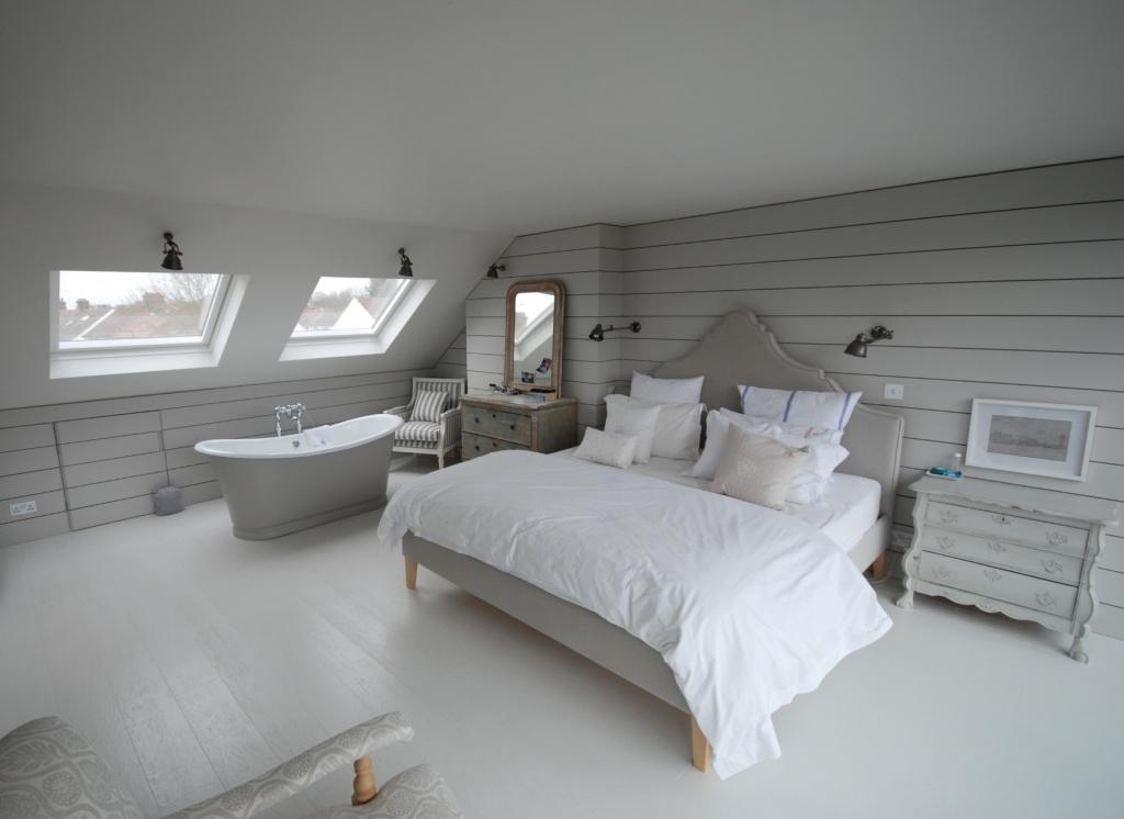 Loft fixer upper bedroom
