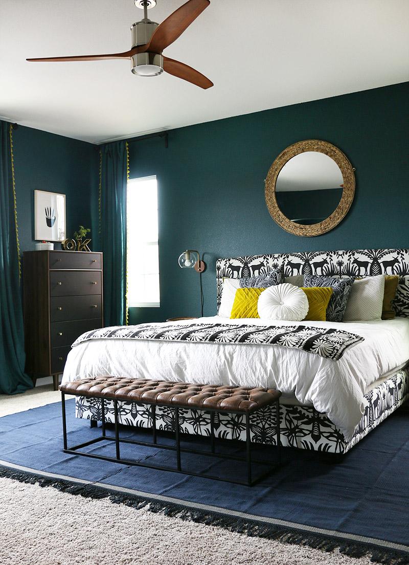 Elegant bedroom for adults
