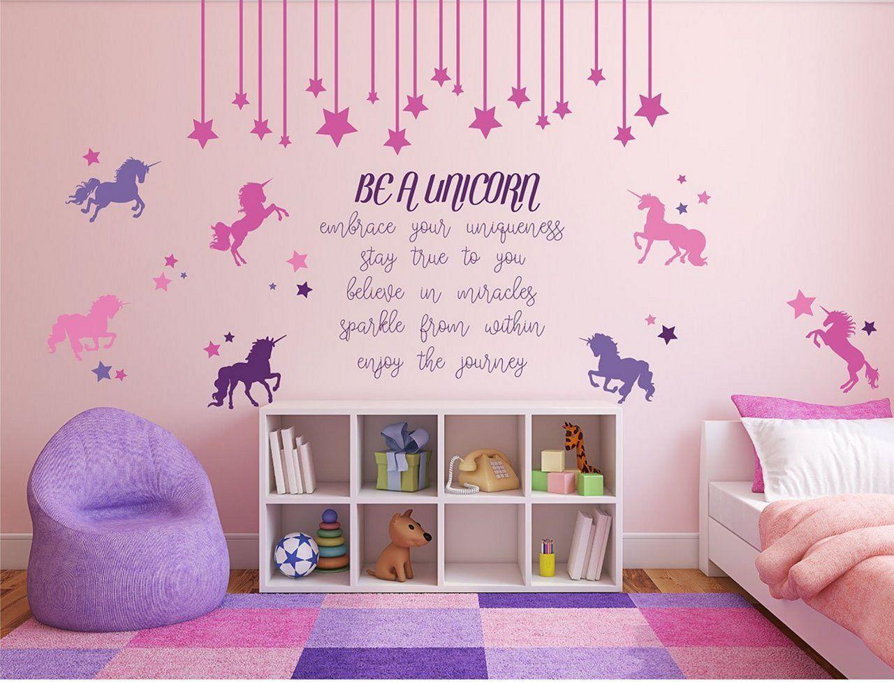 Inspirational unicorn bedroom