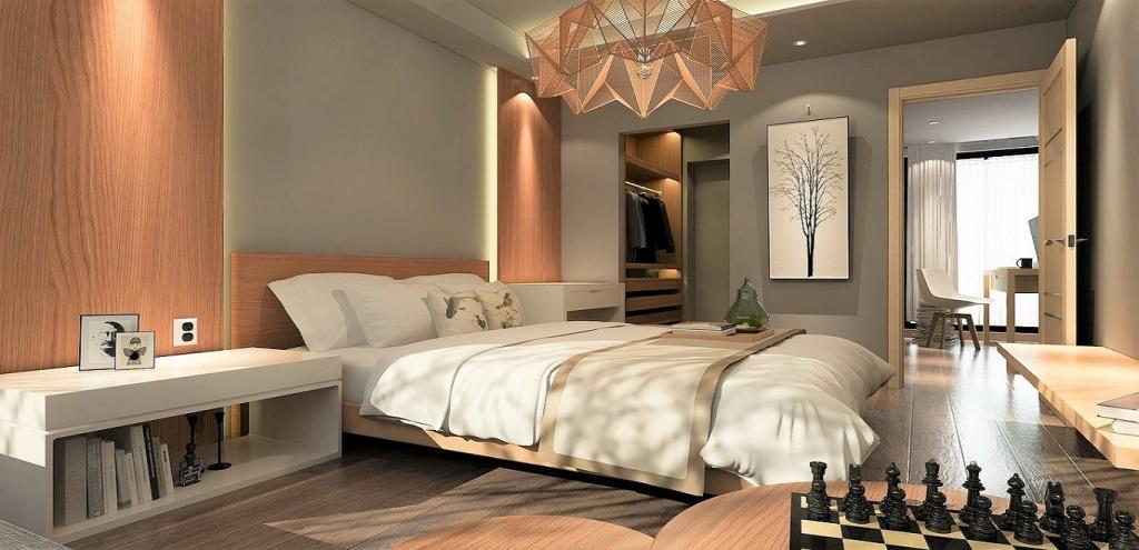 Wooden bedroom door