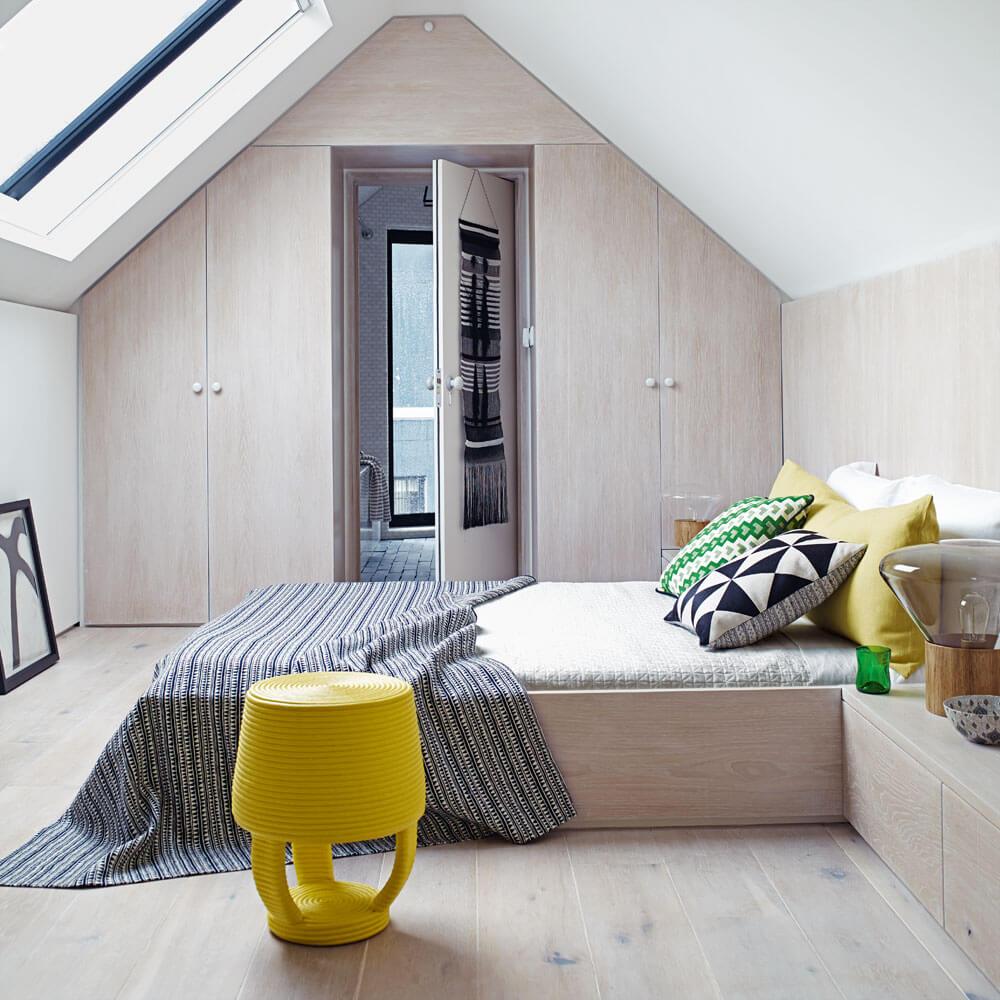 Minimalist bedroom door