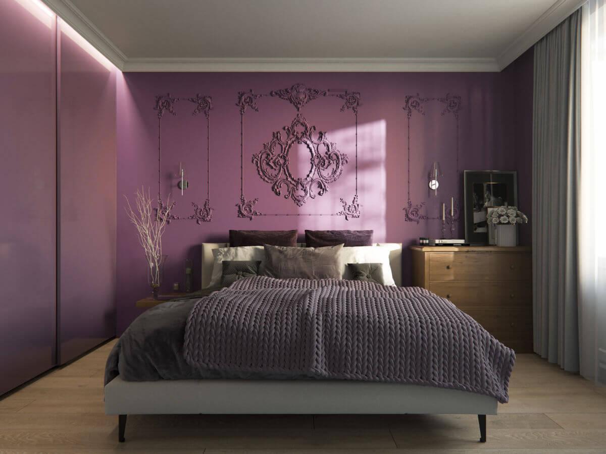 Impressive purple bedroom