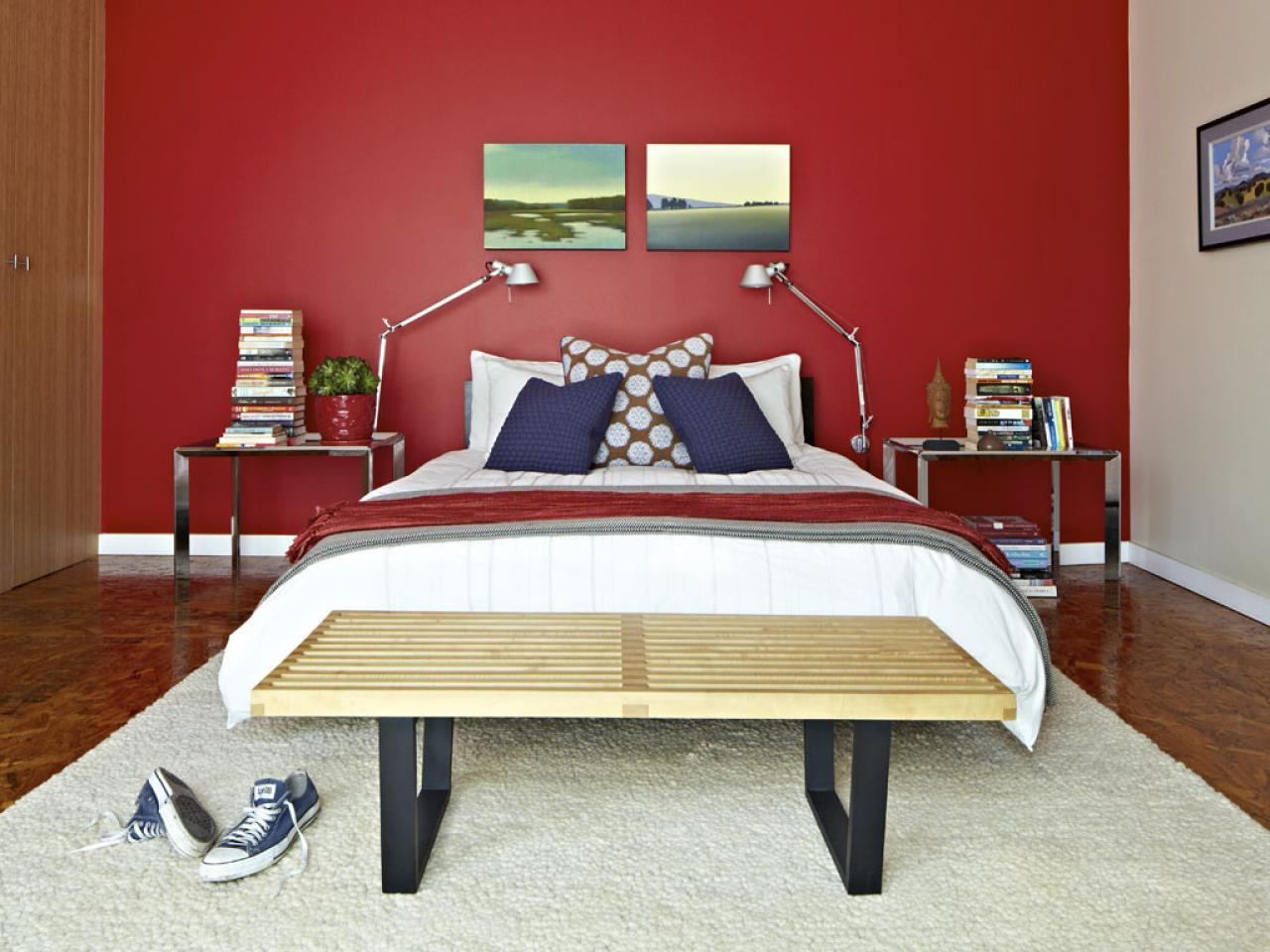 Bold bedroom for young adults