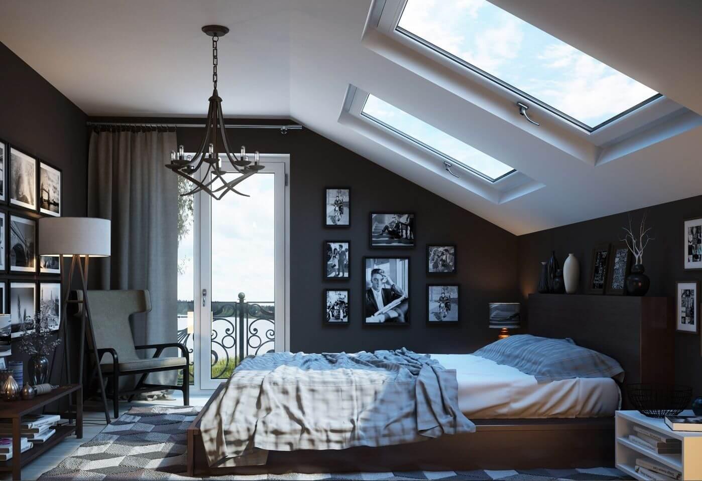 Fashionable adult bedroom