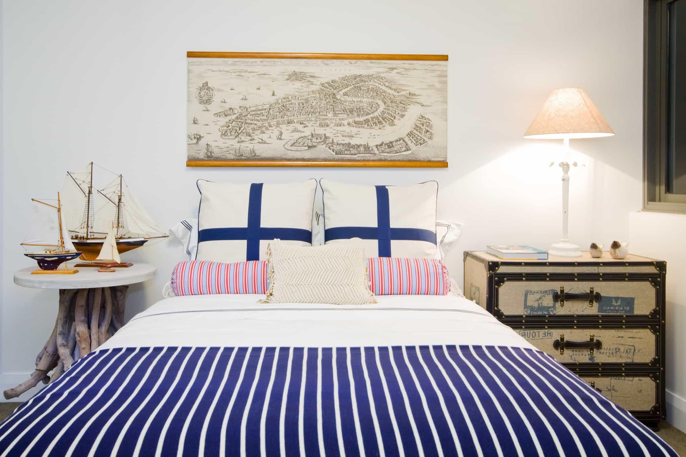 Wonderful nautical bedroom