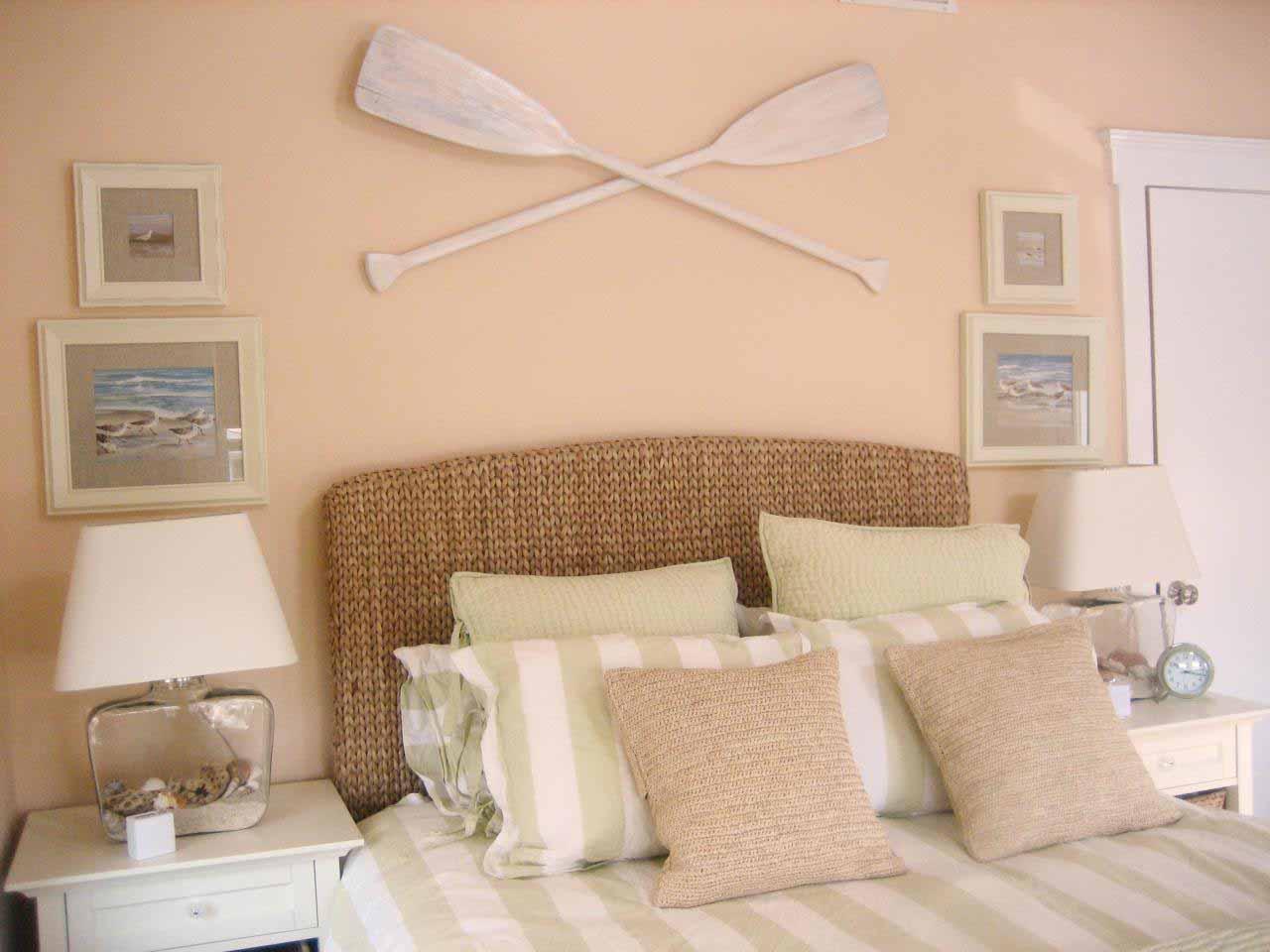 Funny beach bedroom
