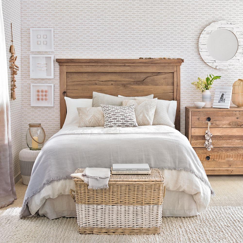 Warm beach bedroom
