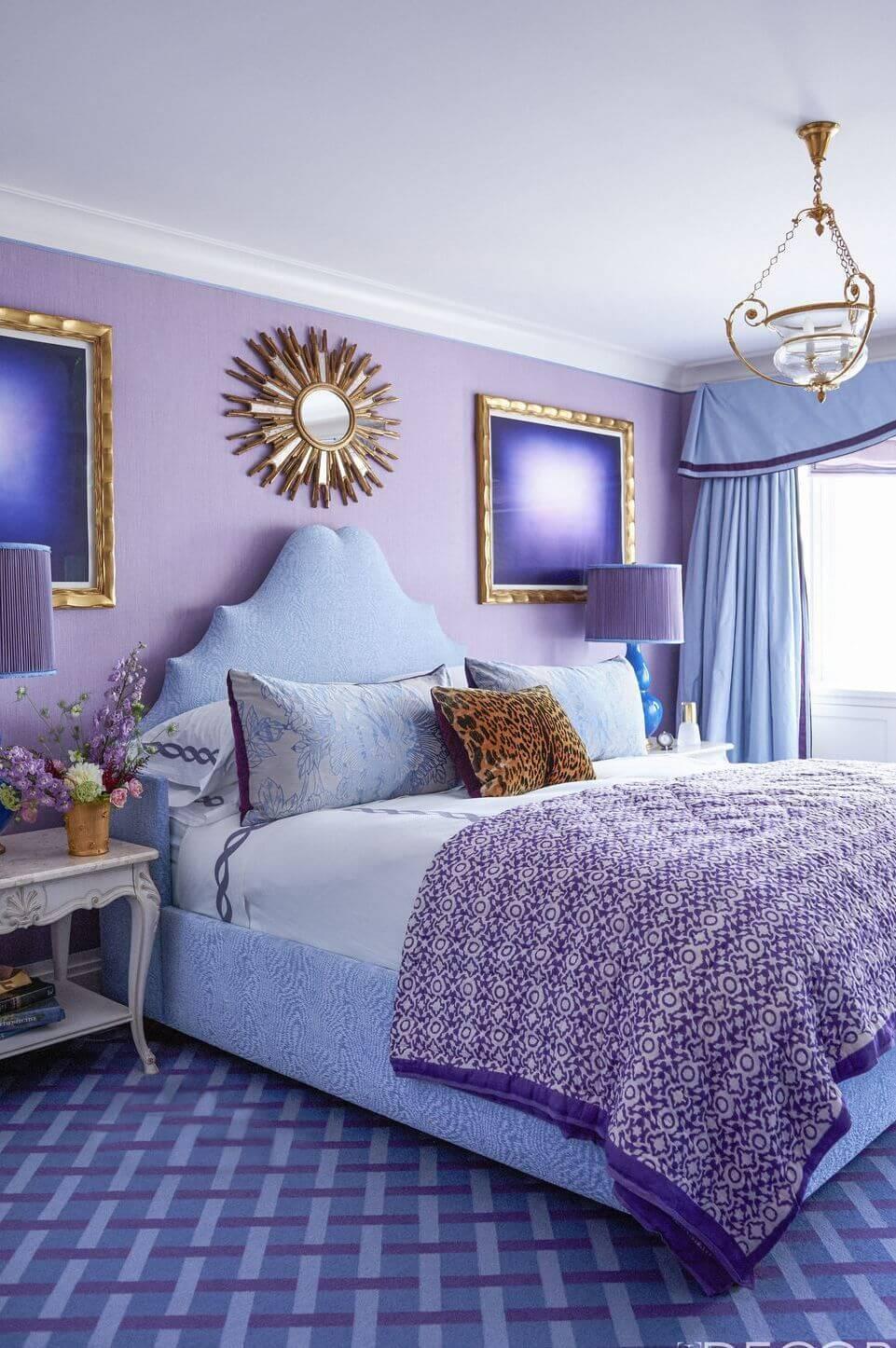 Light purple bedroom