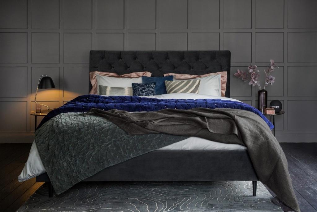 Fancy dark bedrooms