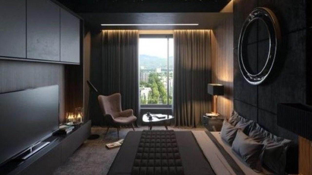 Quiet dark bedroom