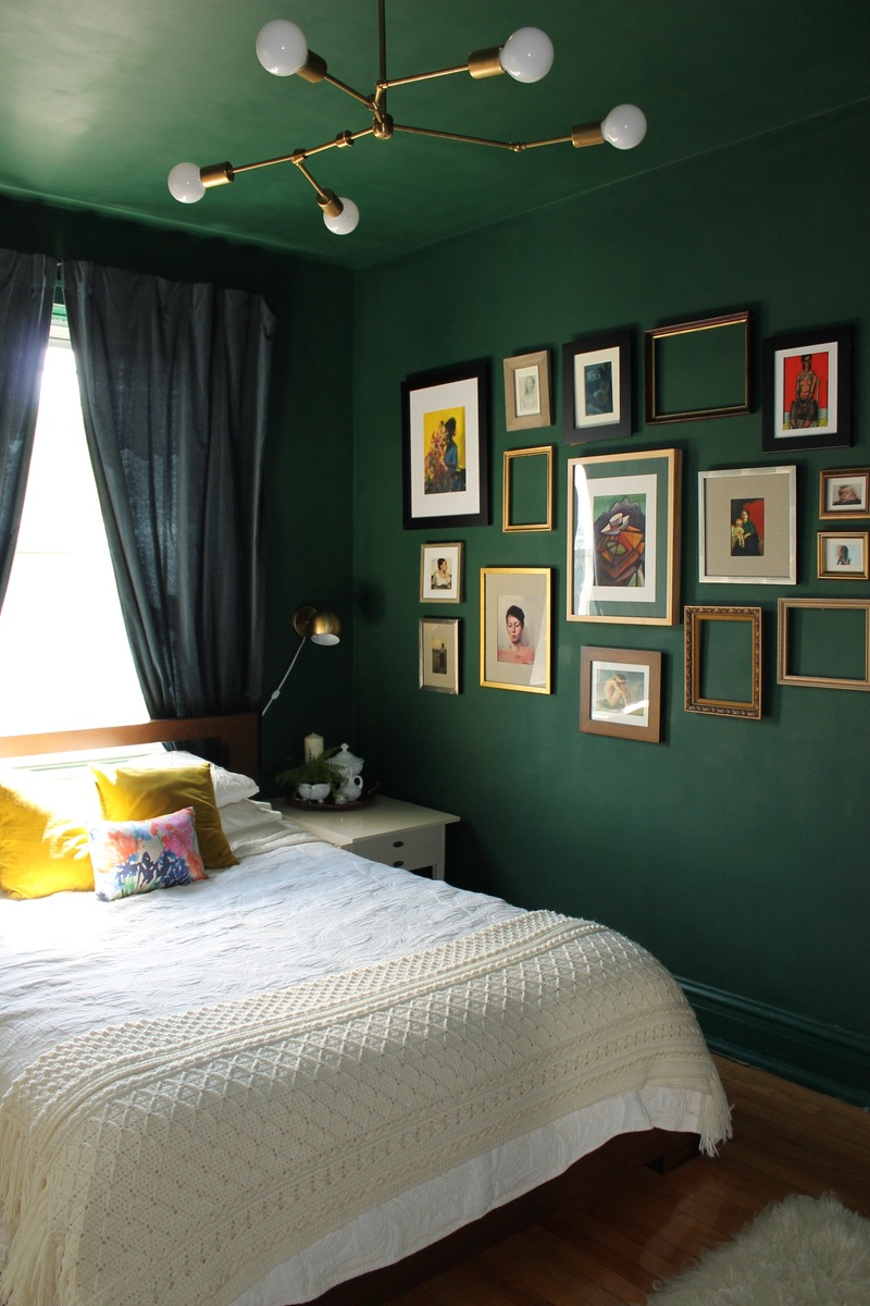 Naturally dark bedroom