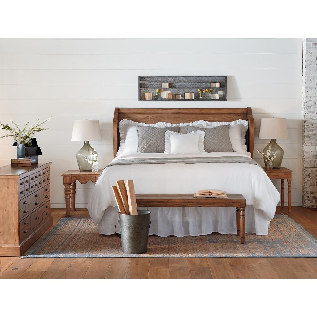 Warm Joanna Gaines bedroom