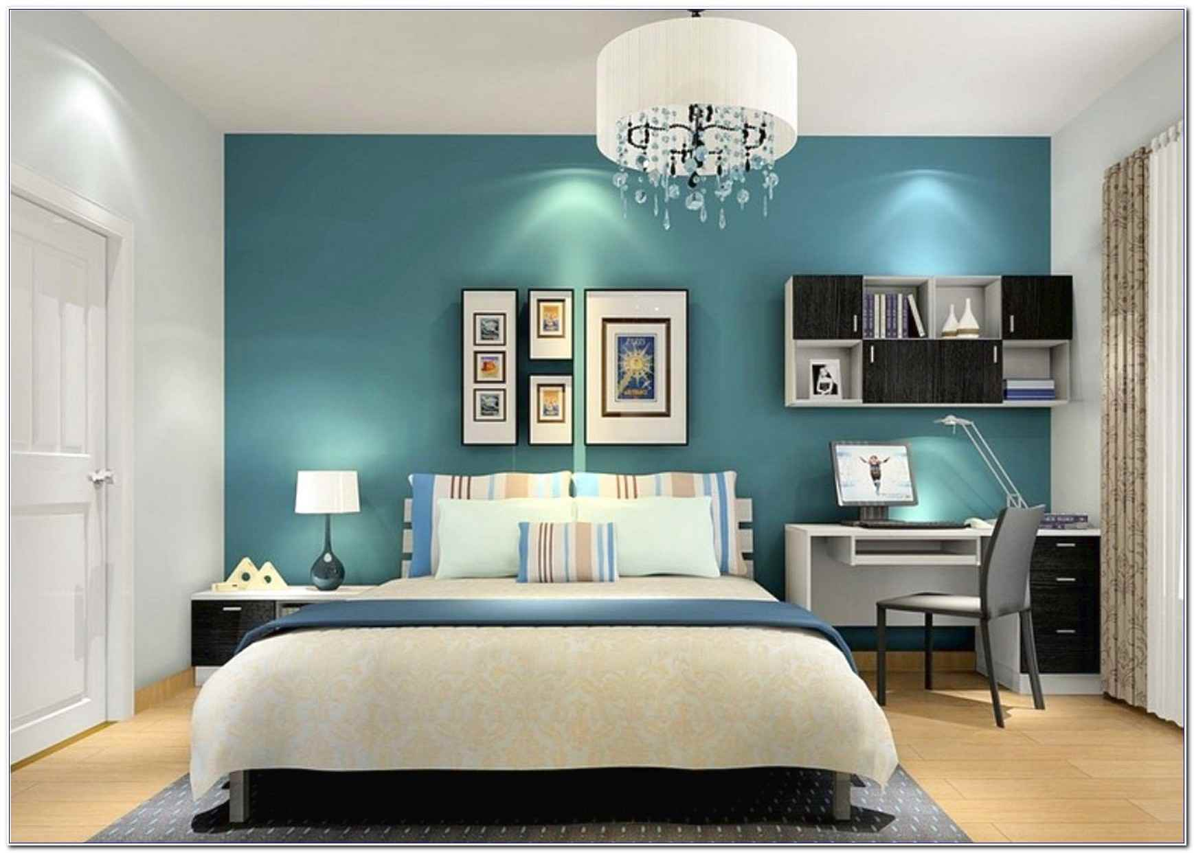 Wonderful bedroom for young adults