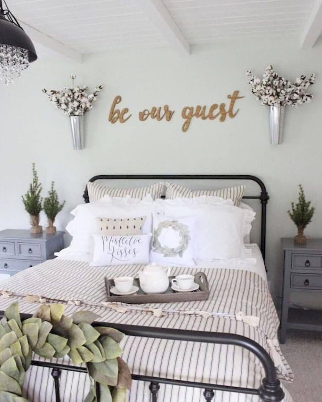 Sweet farmhouse bedroom