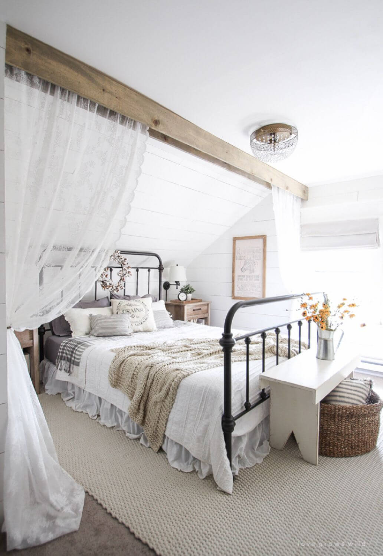 Romantic country bedroom