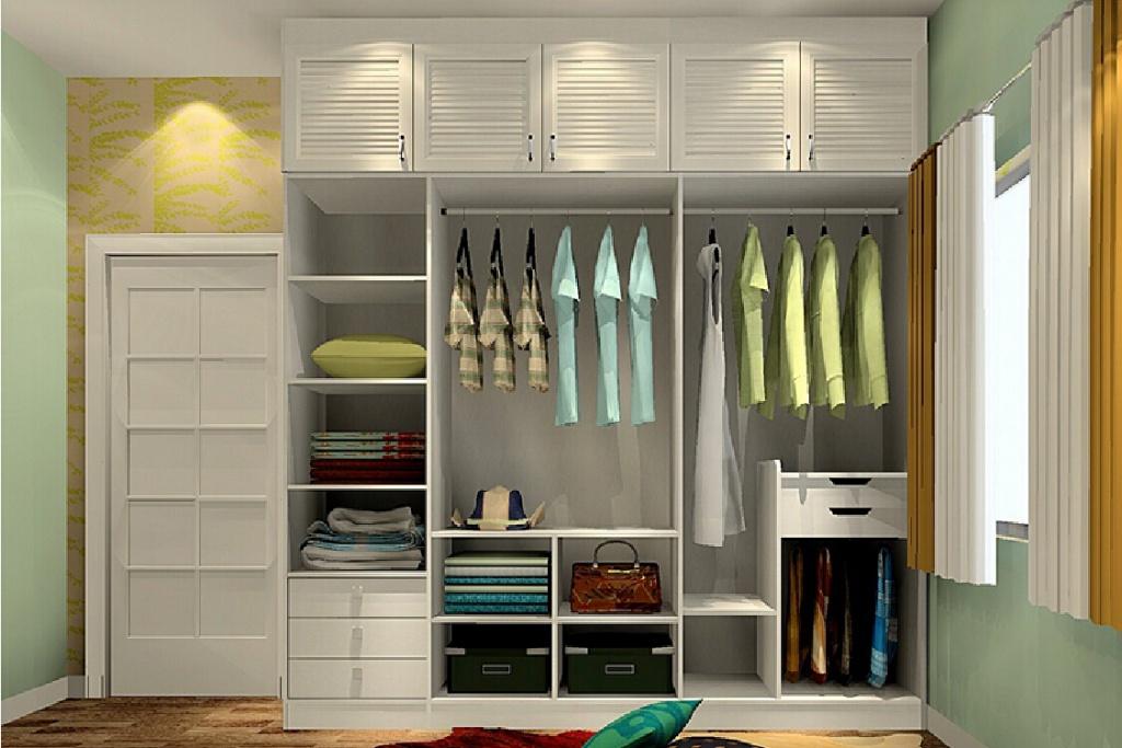 Pleasant bedroom closet