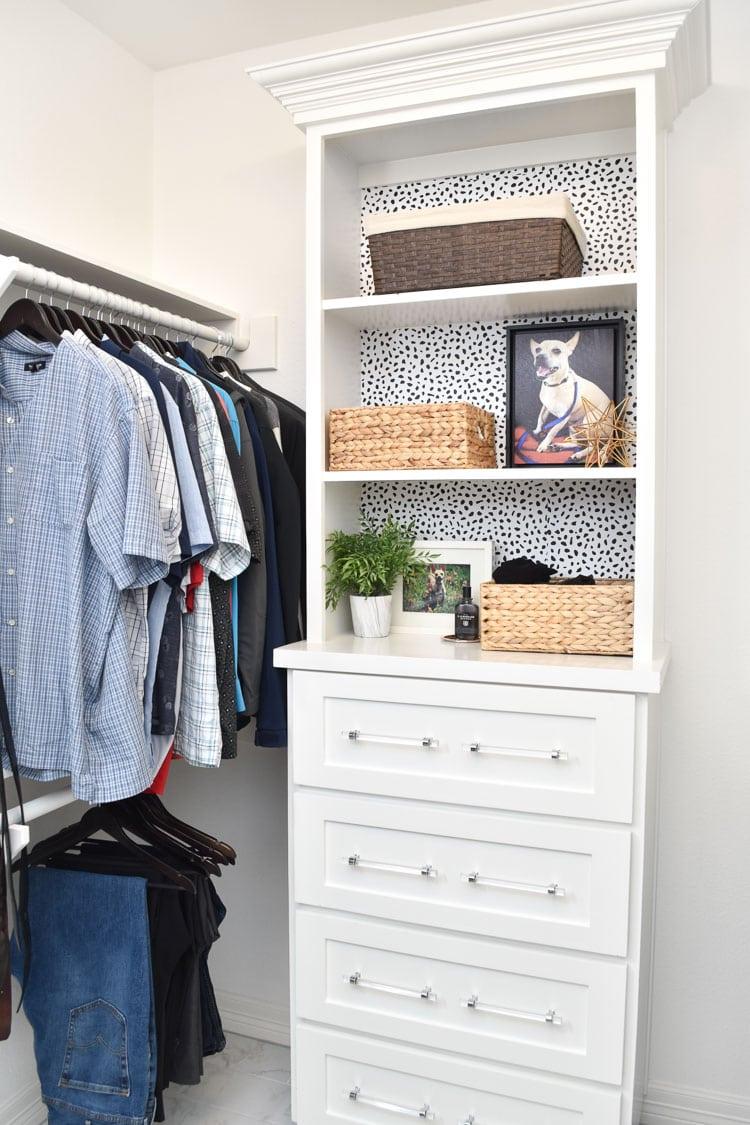 Inexpensive bedroom closet