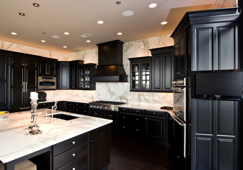 Brave dark kitchen