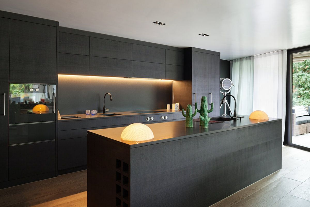 Double Trim Kitchen recessed lighting concept