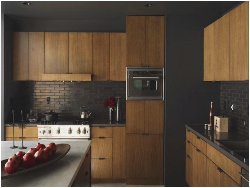 Dramatic dark kitchen