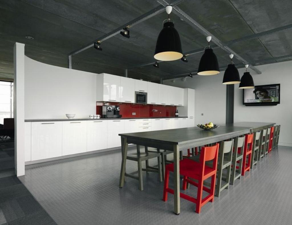 Industrial office kitchen