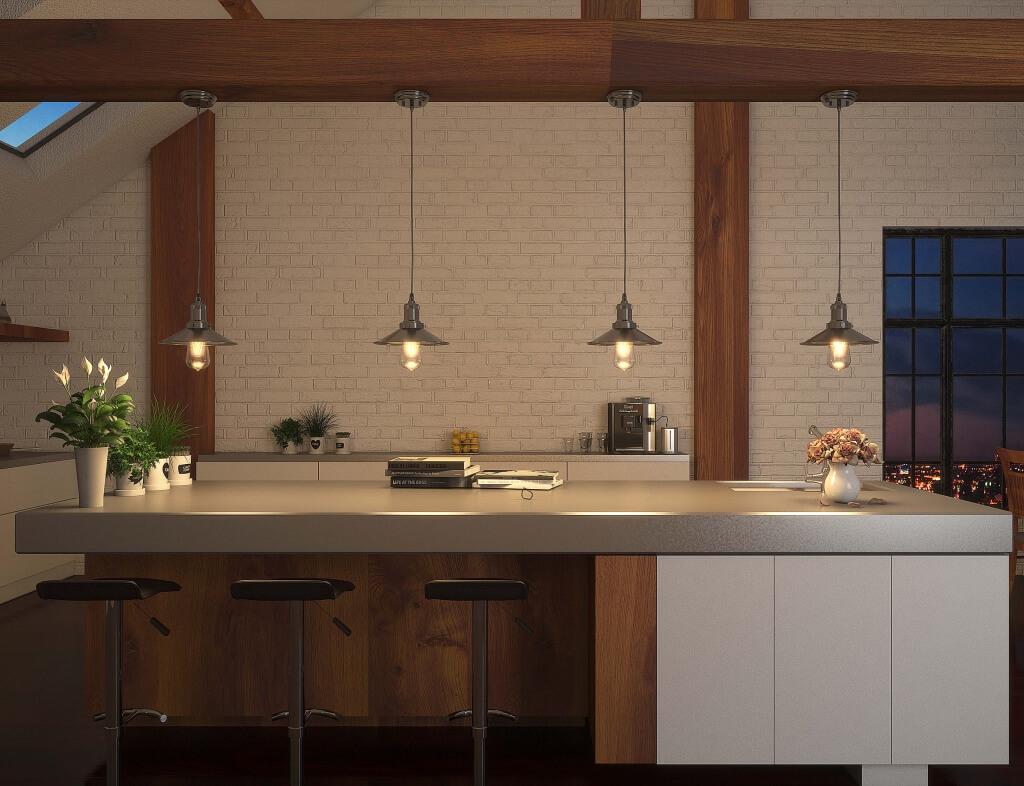 Adorable industrial kitchen lighting