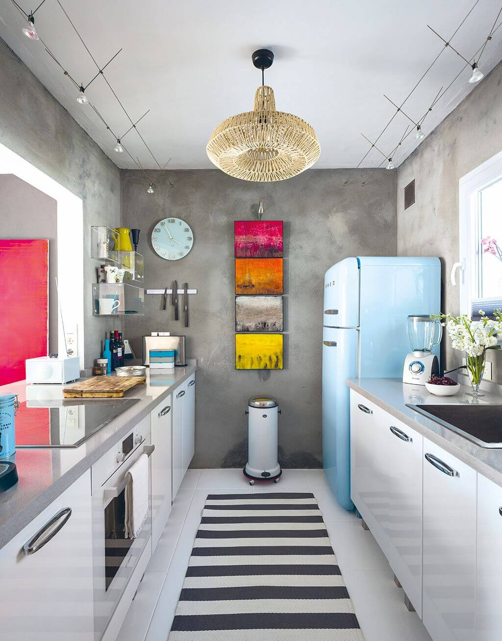 Colorful pantry kitchen