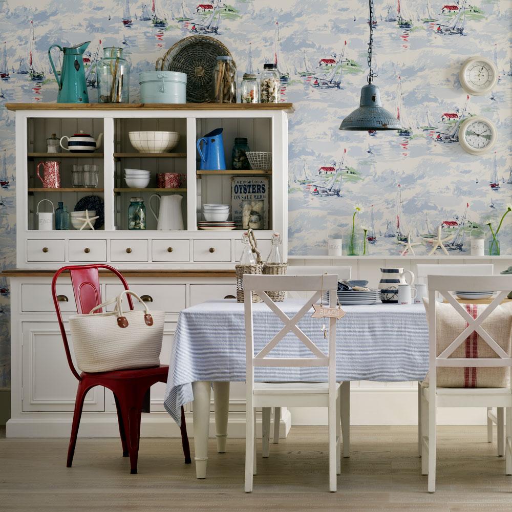 Ocean kitchen wallpaper