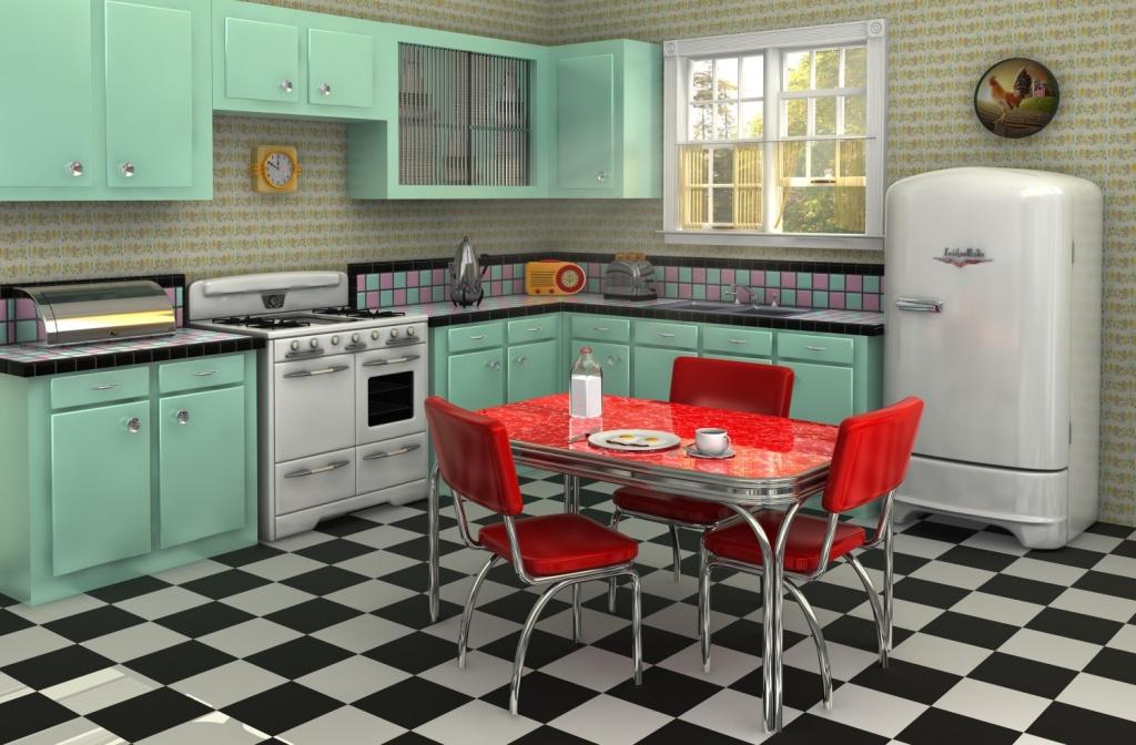 Colorful retro kitchen