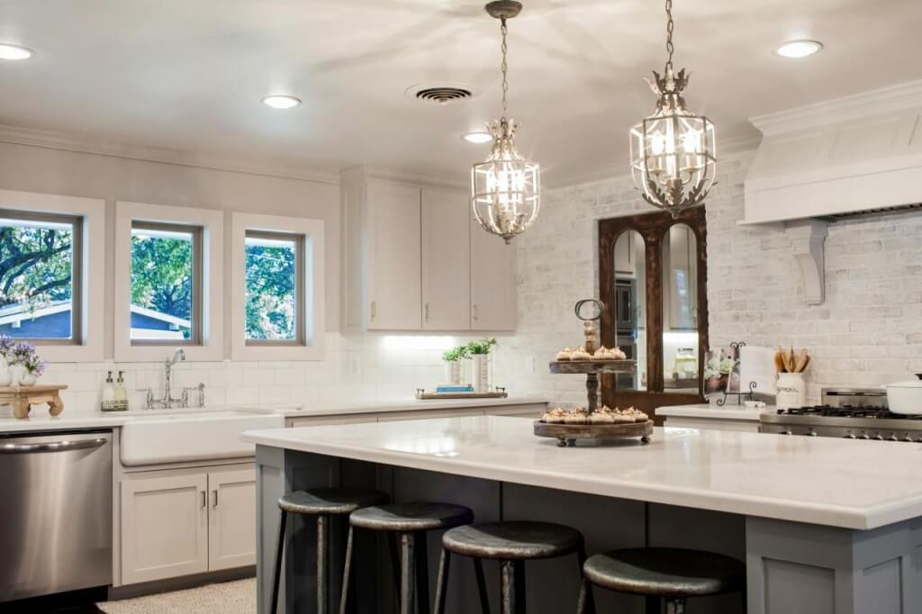 Exceptional French country kitchen lighting