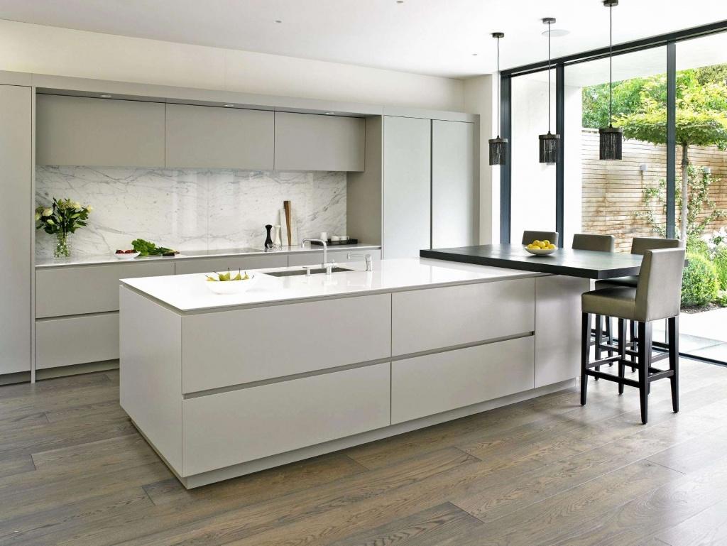 Minimalist mobile home kitchen