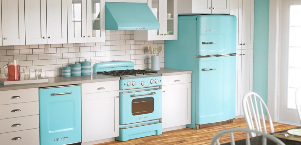 Casual retro kitchen