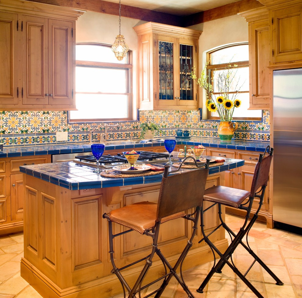 Obvious kitchen island with hob