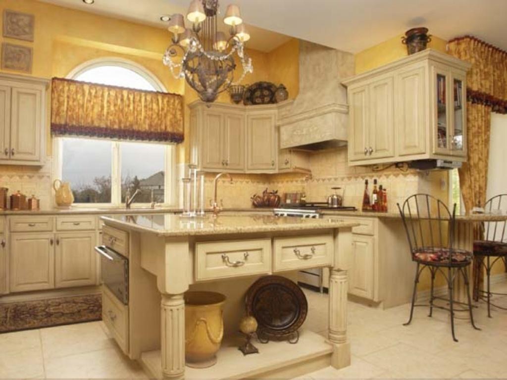 Kitchen island with antique sink