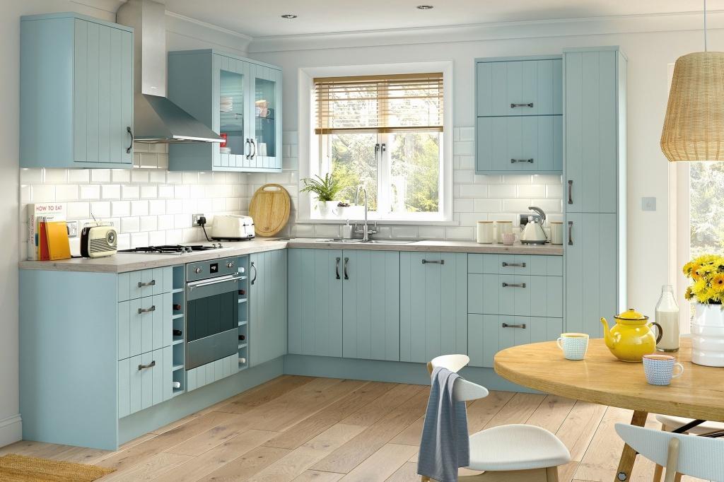 Happy mobile home kitchen