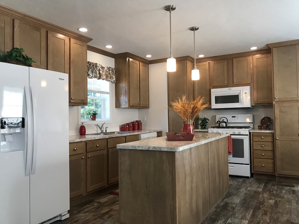 Elegant mobile home kitchen
