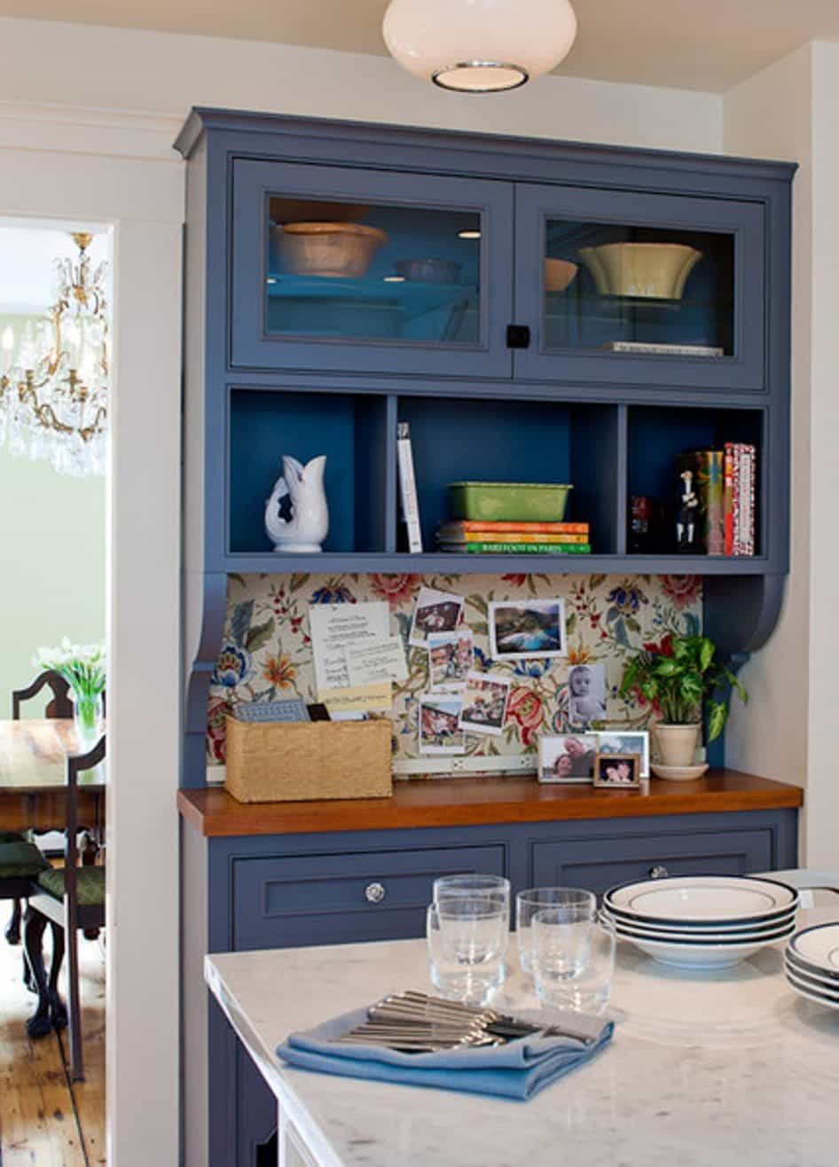 Painted kitchen cabinet