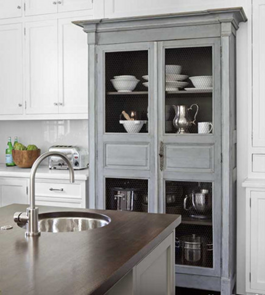 Gray kitchen stand