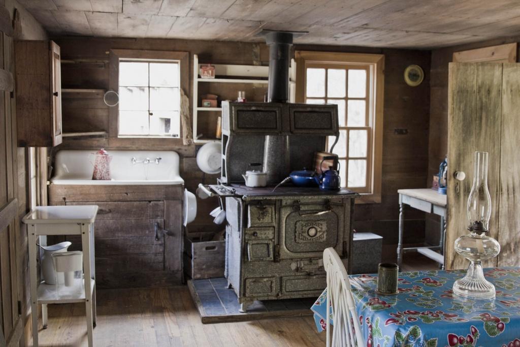 Hut primitive kitchen
