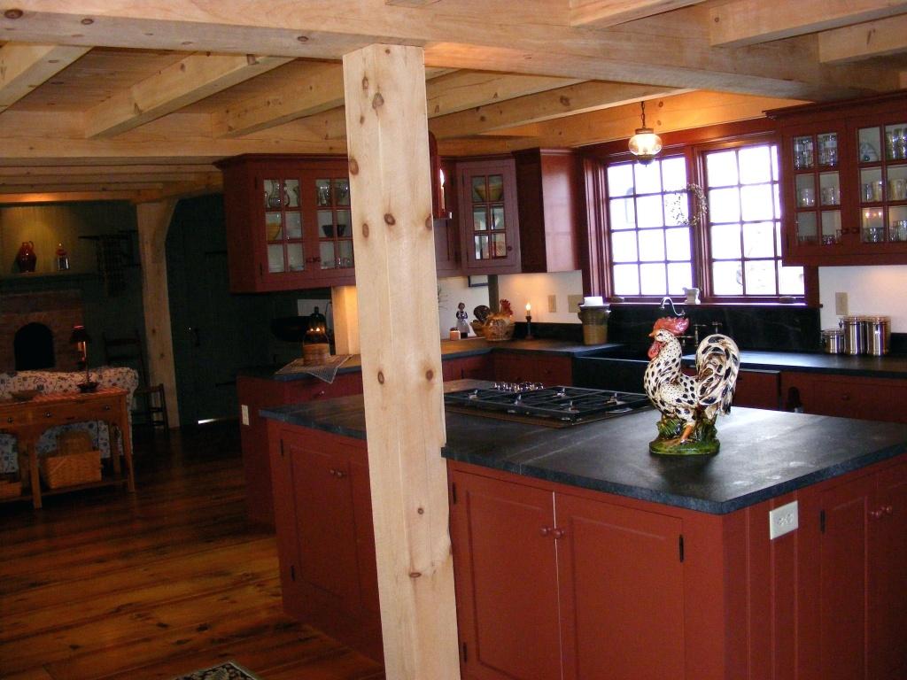 Bright primitive kitchen