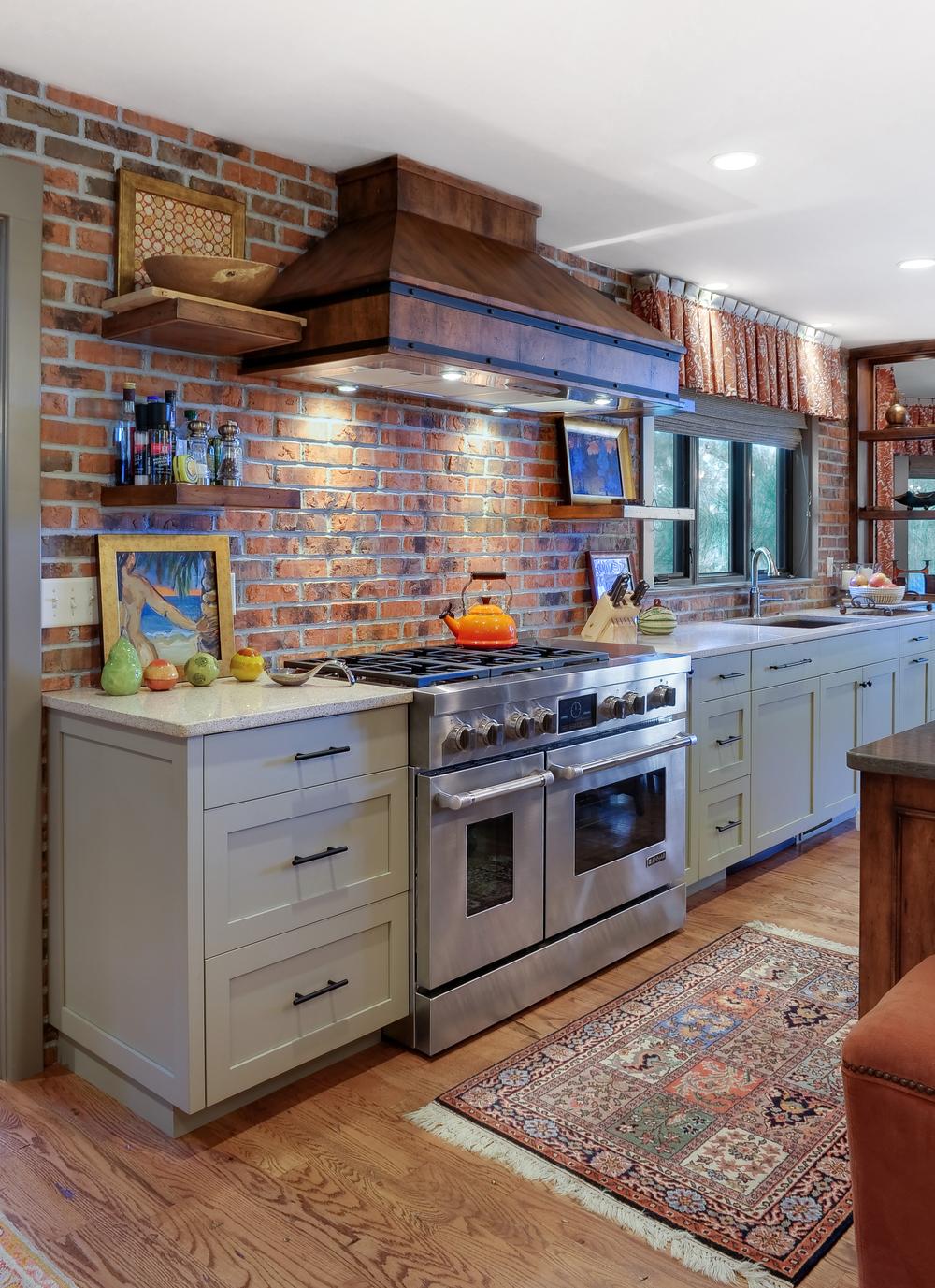 Warm brick kitchen from brick kitchen