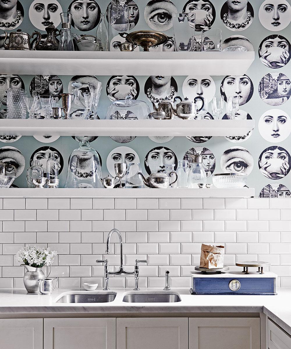 Face kitchen wallpaper