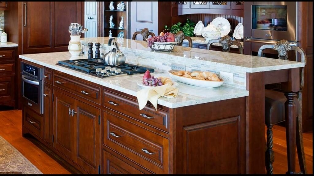 Intelligent kitchen island with hob