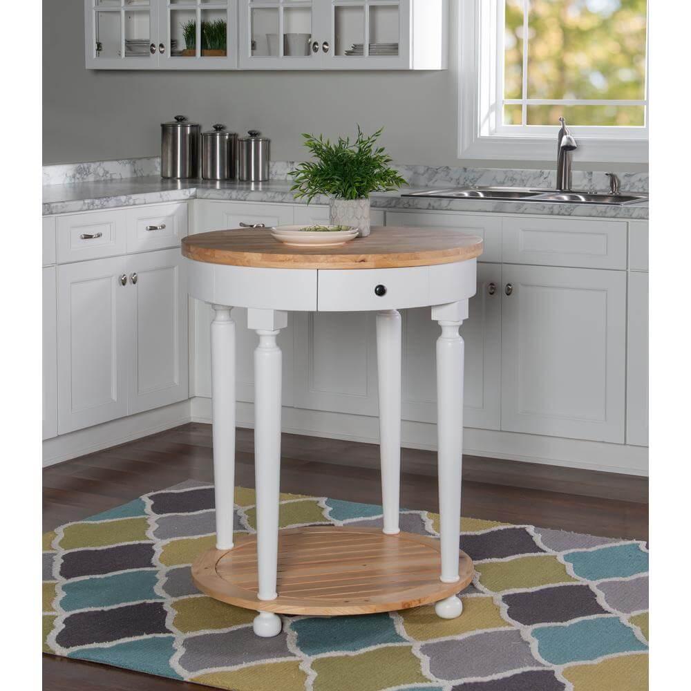 Nice round kitchen island