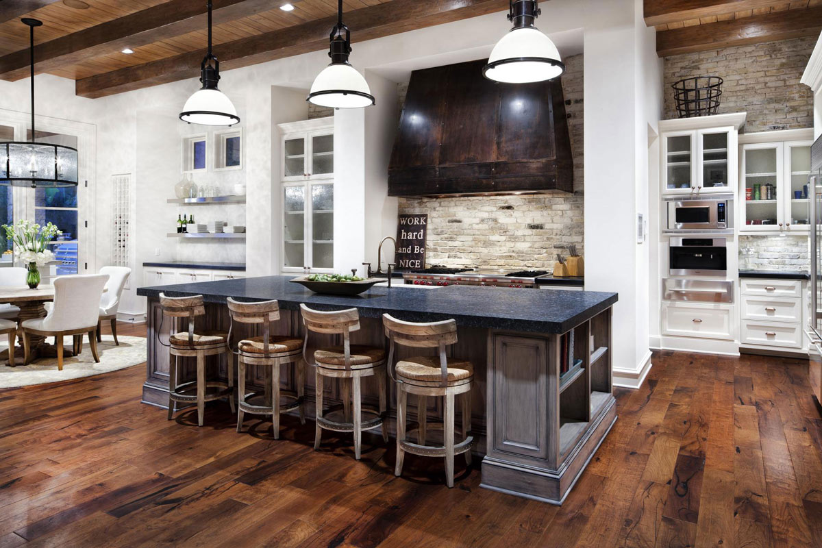 Top country kitchen lighting