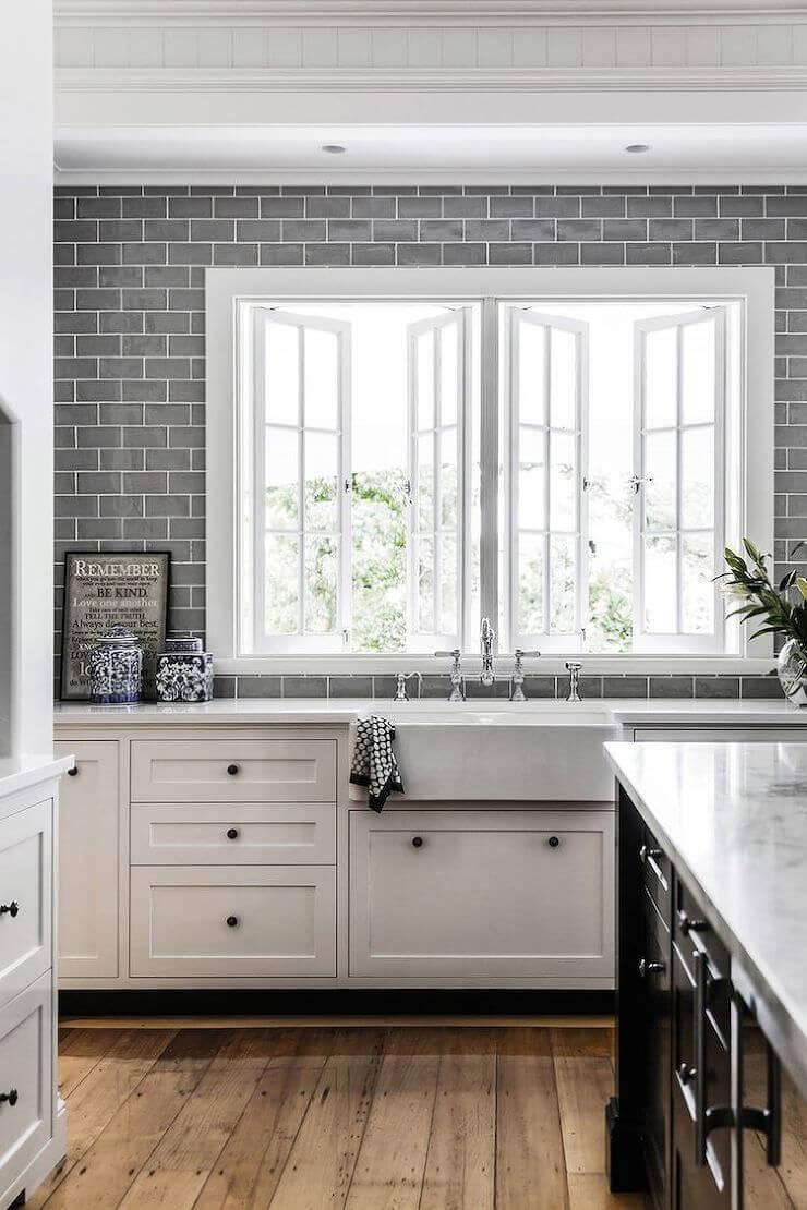 Casual kitchen window