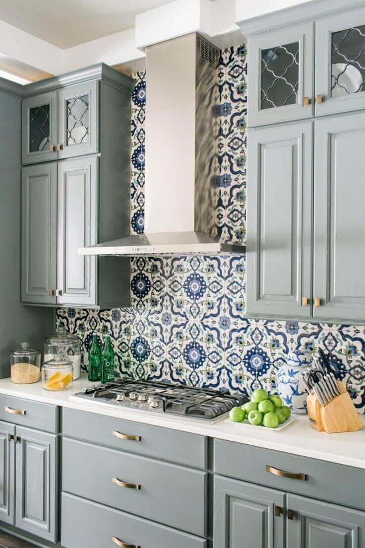 Beautiful modern kitchen splashback