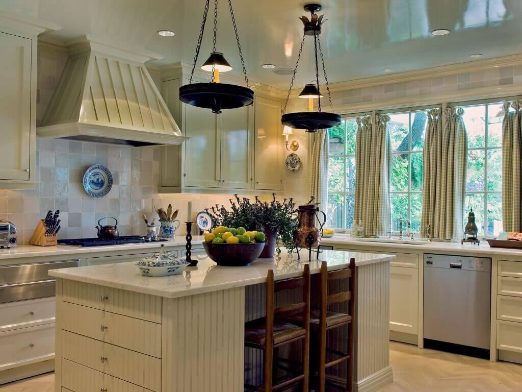 Charming gray kitchen