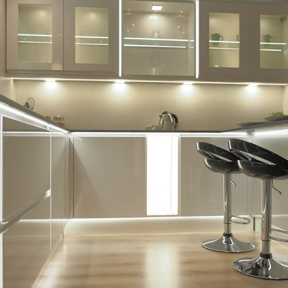 Minimalist gray kitchen